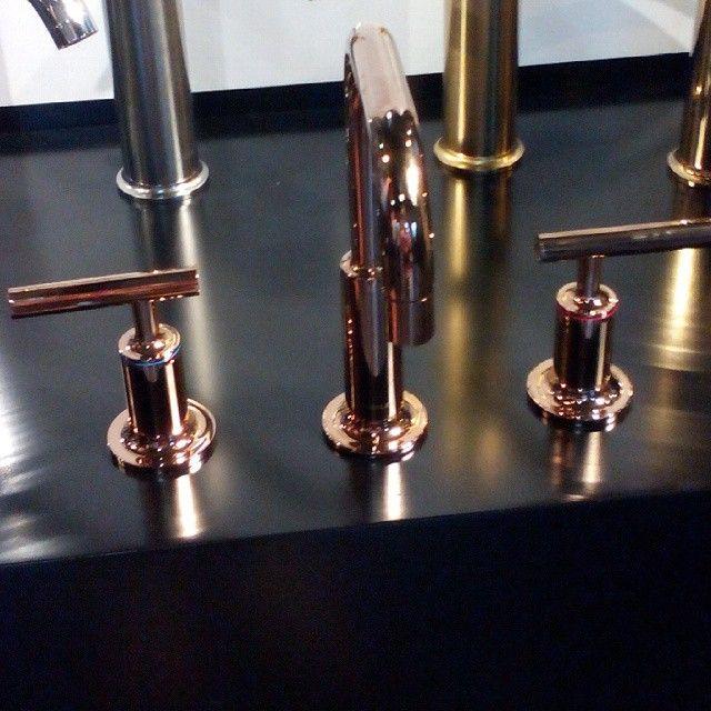 Beautiful polished rose gold tapware by Kohler #tapware | Finishes ...
