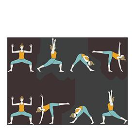 moon salutation variation a yoga chandra namaskar