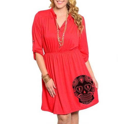 Sugar Skull Dress Womens Plus Size Clothing 2XL by ...