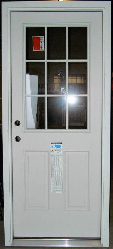Thermatru Fiberglass Entry Door Item Smooth Star Ss 262 9 Lite
