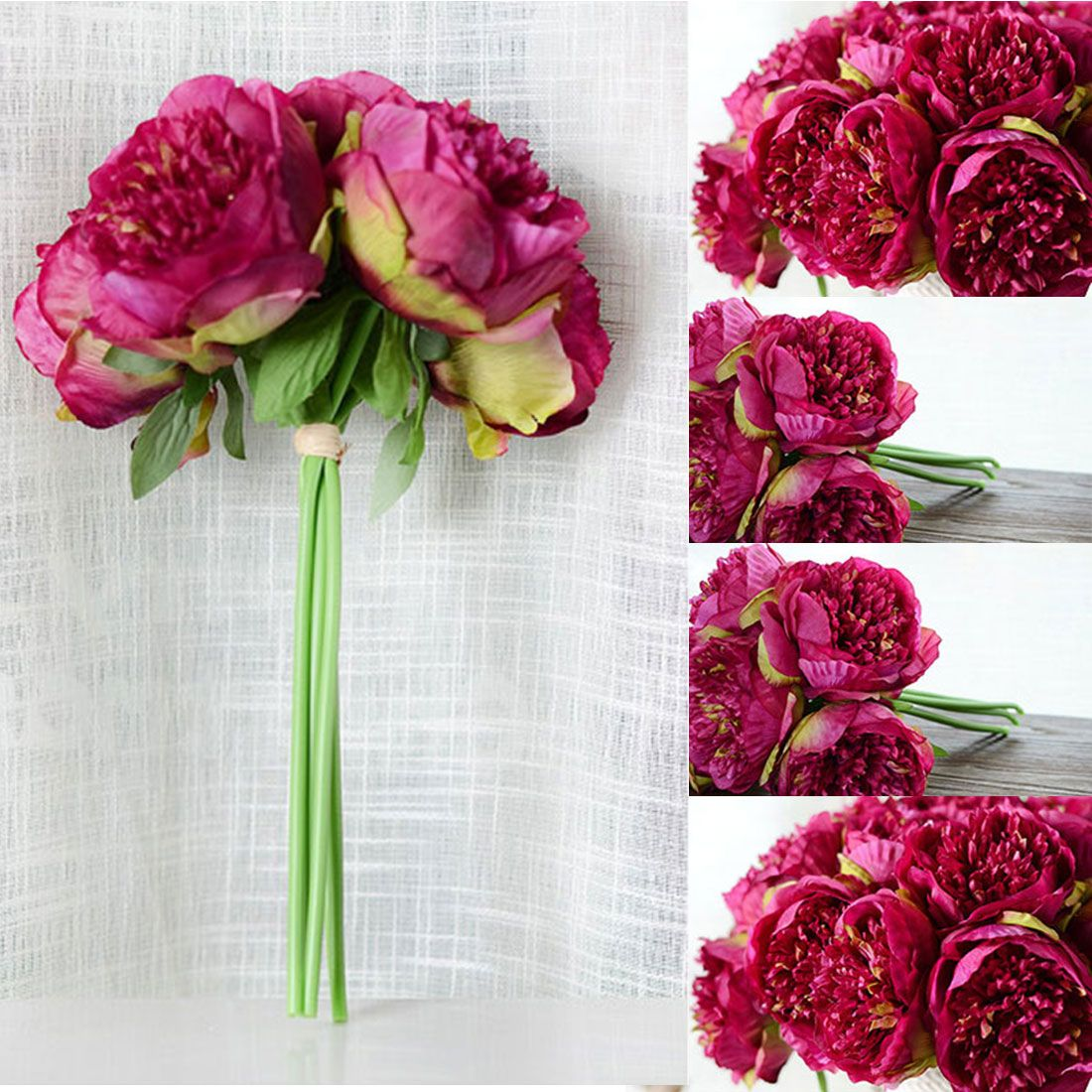 Good Cheap Artificial Fake Peony Silk Flowers Bridal Bouquet Flower Arrangement Home Wedding Party Festival Table