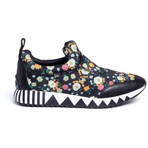 8071fd5c6 Tory Burch  Jupiter  floral print neoprene slip-on sneakers ( 400 ...
