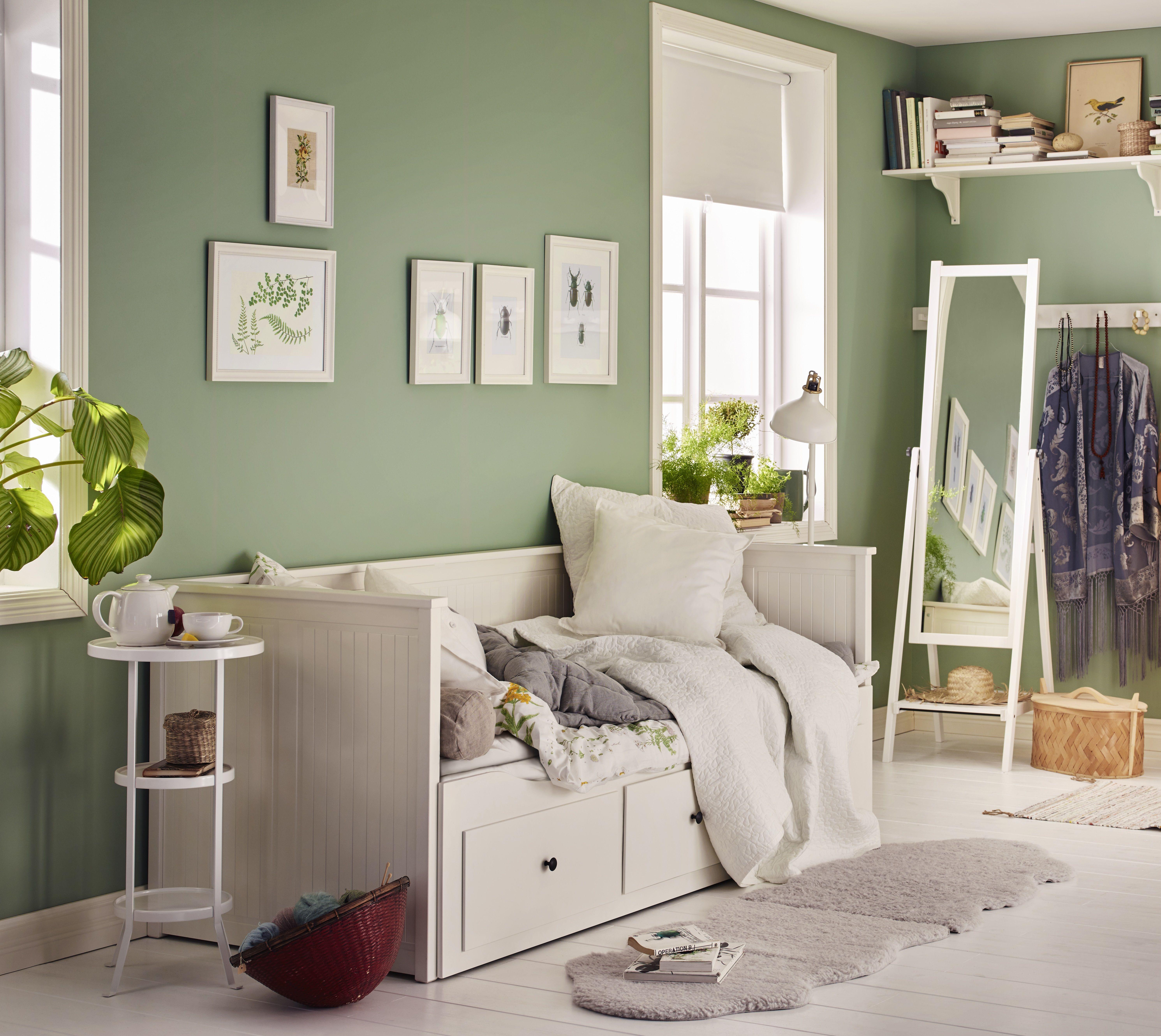 hemnes bedbank ikea ikeanl slaapkamer landelijk wit. Black Bedroom Furniture Sets. Home Design Ideas