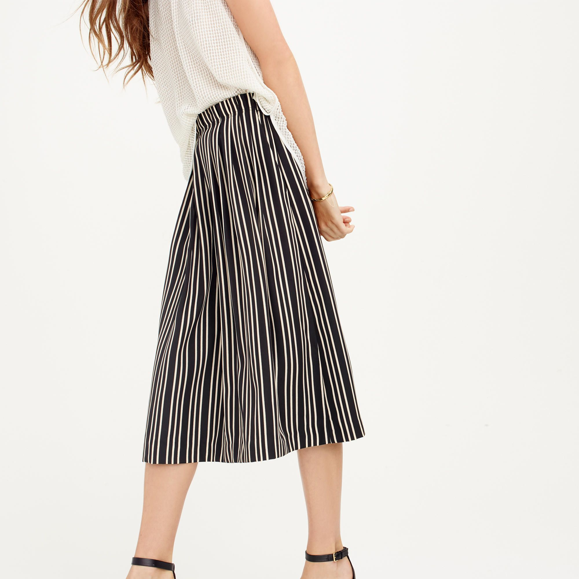 a2312c480d19 Pleated midi skirt in triple stripe : A-line/Midi | J.Crew | Dots'n ...