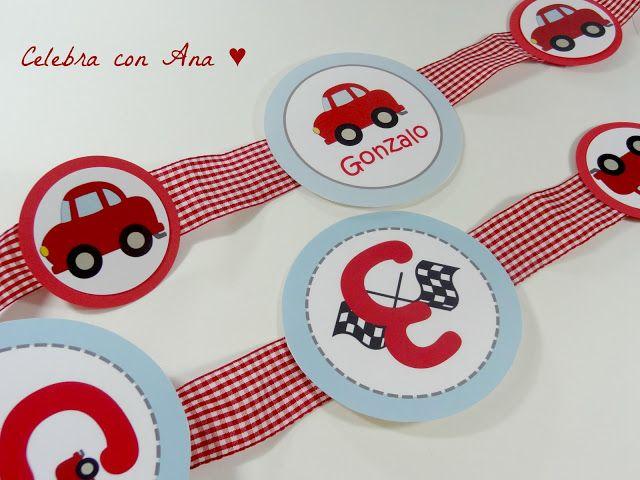 """Celebra con Ana: ♥ Cumple """"Mis coches rojos"""" ... preparativos"""
