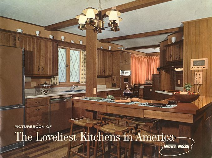 1960s Kitchens wood-mode kitchens from 1961 - slide show of 15 photos | the very