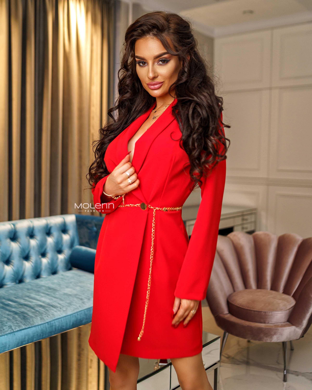 Sukienka Marynarkowa Cora Red Dresses High Neck Dress Neck Dress