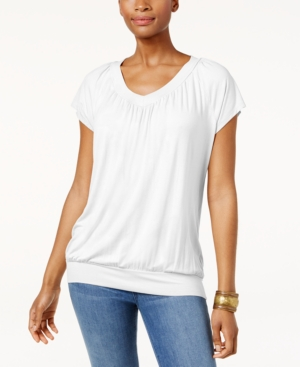 Jm Collection Blouson T-Shirt, Only at Macy's - White XL