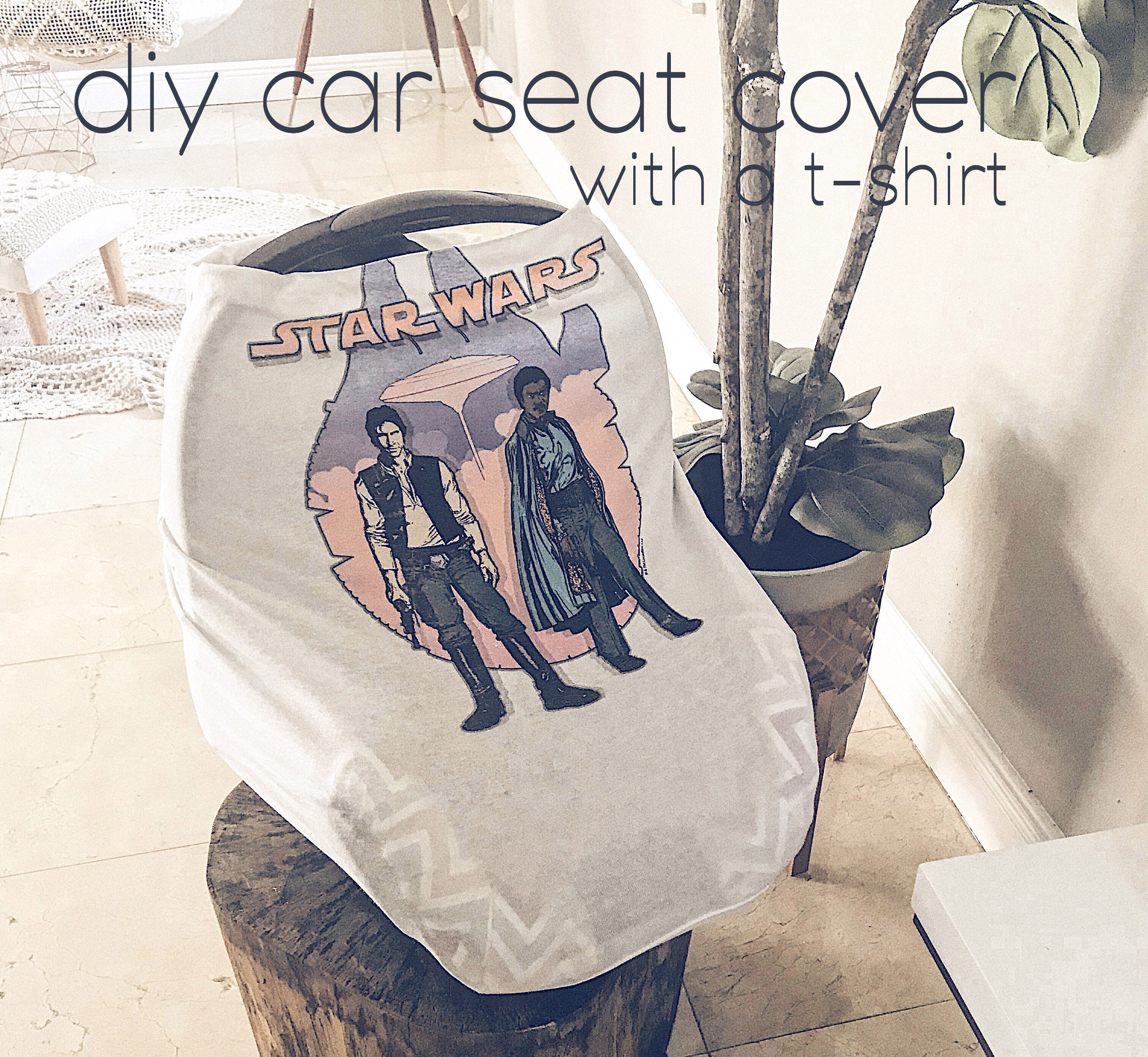 Create A Car Seat Cover With A T Shirt Diy For Moms Pinterest