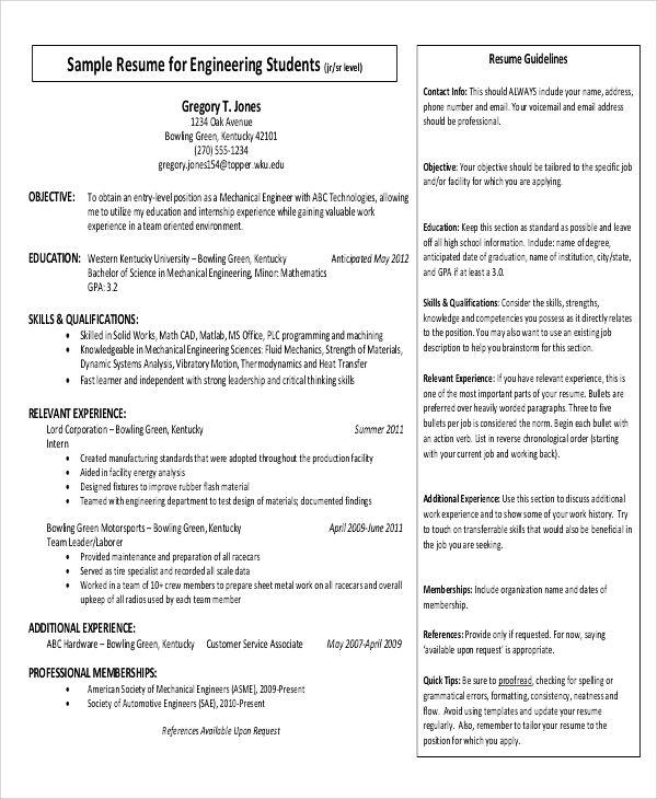 simple resume format 9 examples in word pdf