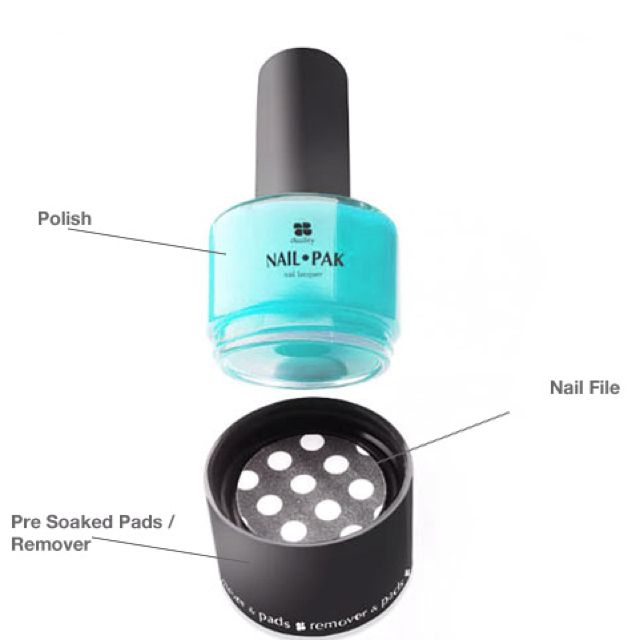 Nailpak. All new three-in-one nail polish product with polish, nail ...