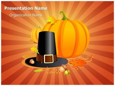 Autumn Thanksgiving Pilgrim Powerpoint Template Is One Of