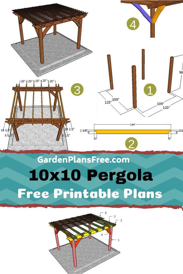 Easy To Follow Plans For Building A 10x10 Pergola I Have Designed This Square Pergola So You Can Build A Shading Structure In One Weekend M