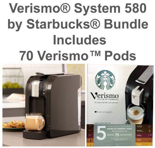 Verismo® System 580 by Starbucks® BUNDLE (Includes 70 VerismoTM Pods) – Piano Black: Christmas Gifts