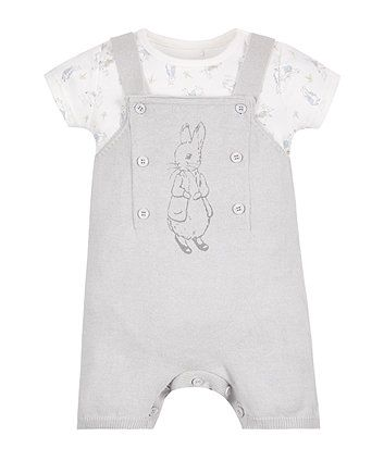 1ac9a4b050da Peter Rabbit Knitted Dungarees and Bodysuit Set Newborn Clothes Unisex,  Newborn Outfits, Baby Boy
