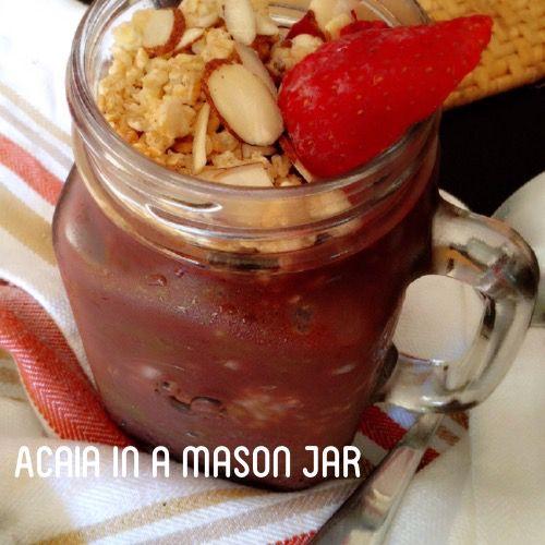Acaia bowl [Pineapple, Strawberry, Dates & Acaia pack] #Paleo #Superfood #AcaiaBowl