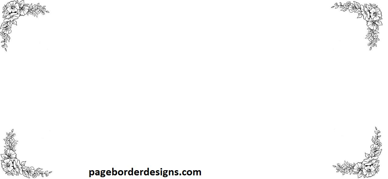 Simple Four Corner Page Border Design  2016 sadiakomal