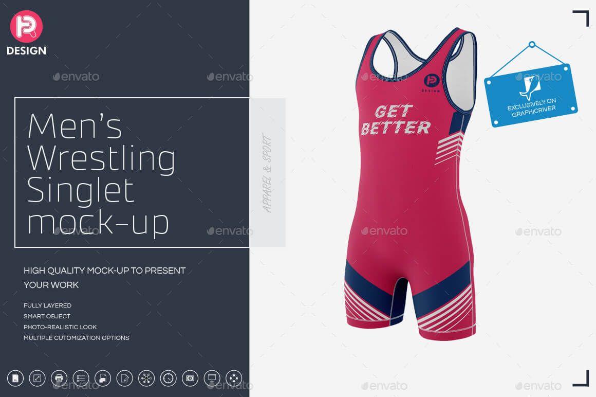 Download 17 Free Sportswear Mockup Psd Templates Fitness Athletic Gym Wrestling Soccer Clothing Mockup Wrestling Singlet Mockup