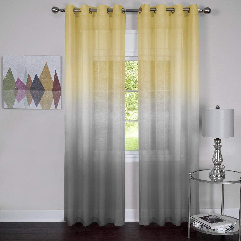 Achim Home Furnishings Rbpn84gy12 Rainbow Single Grommet Window