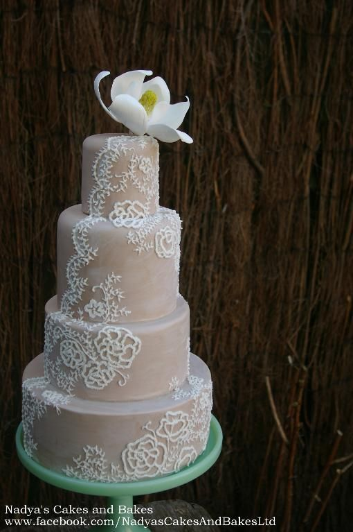 An Inspiring Collection 9 Lovely Lace Wedding Cakes