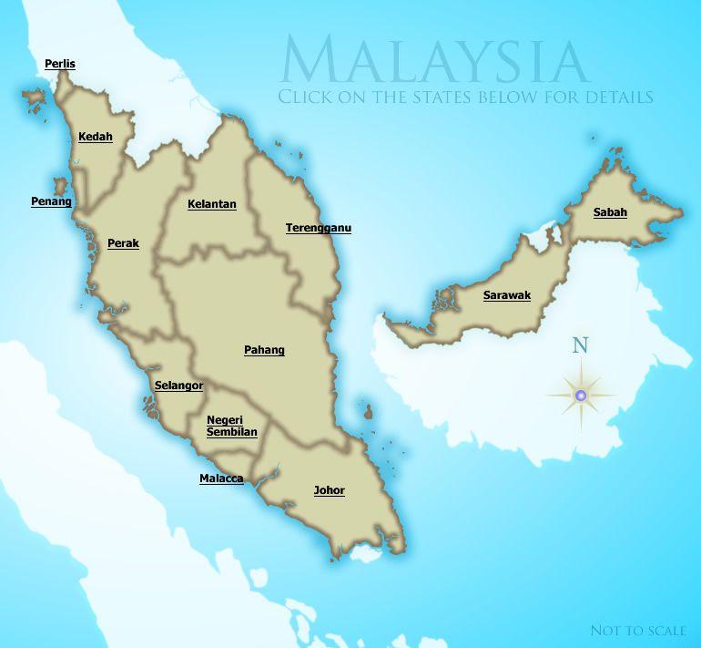 Regional Map Of Malaysia
