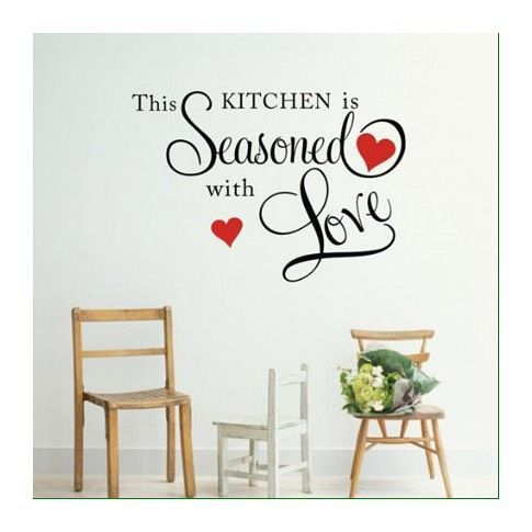 just in this kitchen is seasoned with love price sr 50 ورق جدران حائط السعر ريال on kitchen decor quotes wall decals id=75906