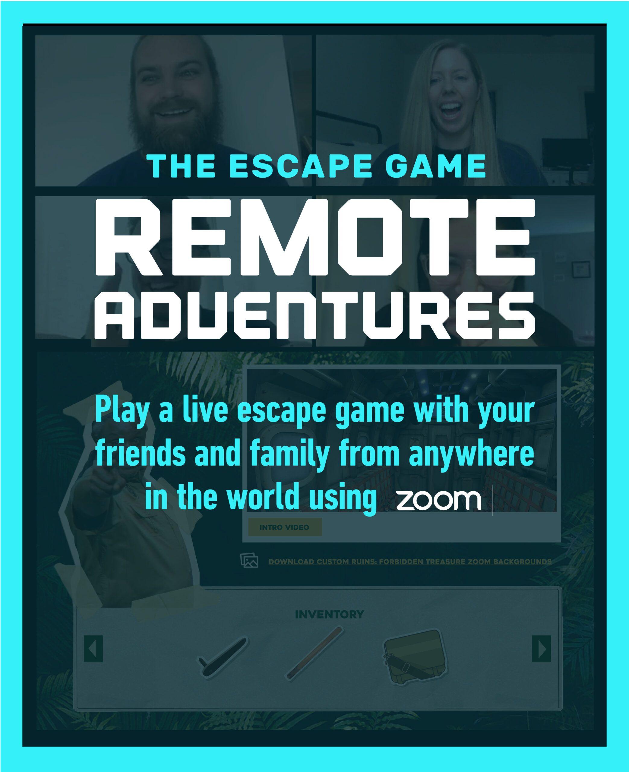 The Escape Game Remote Adventures Virtual Escape Room in
