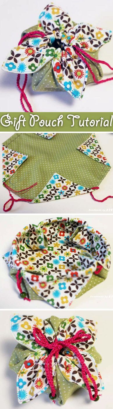 Fabric Gift Pouch Tutorial.