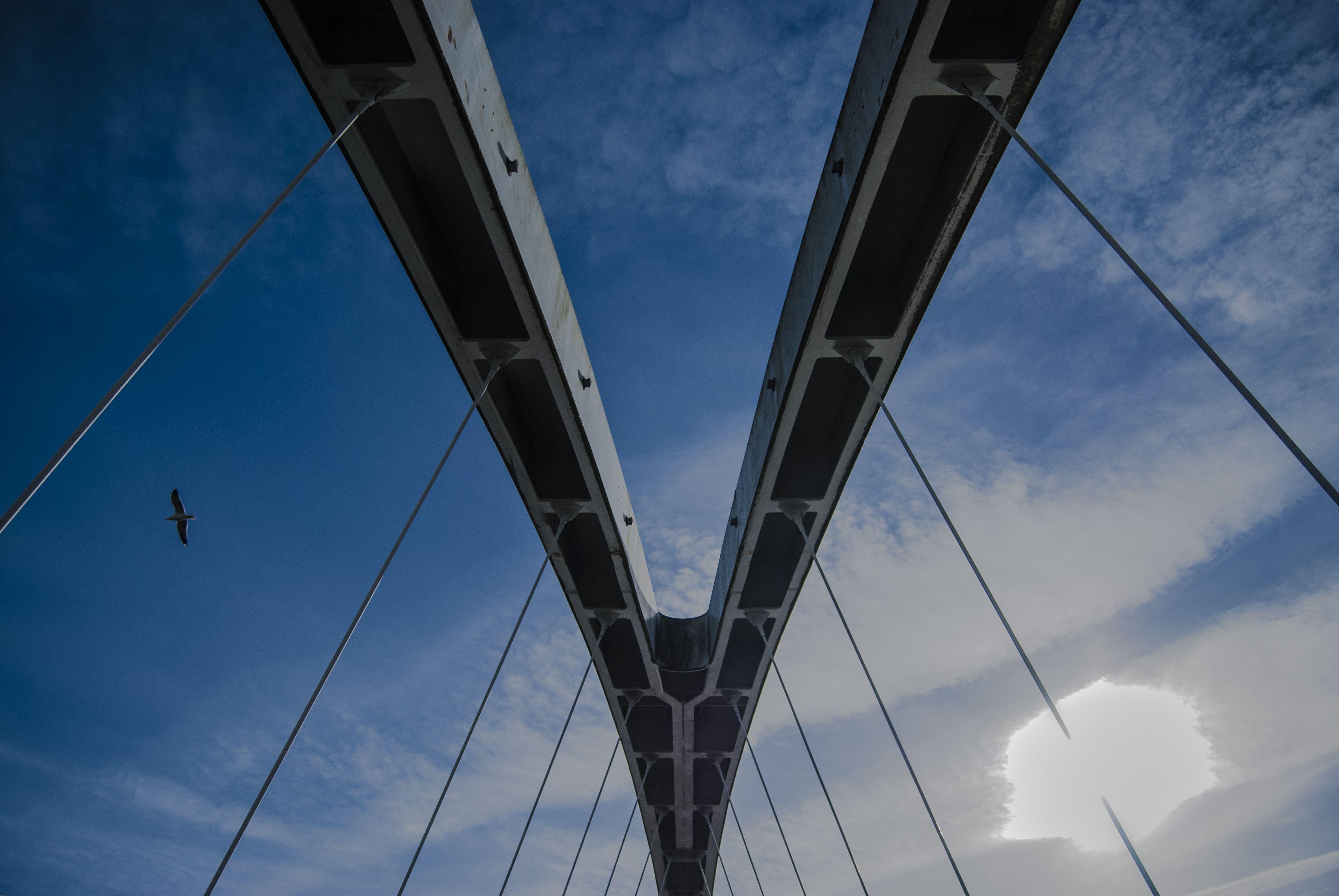 Itap of the millennium bridge in salford quays httpift