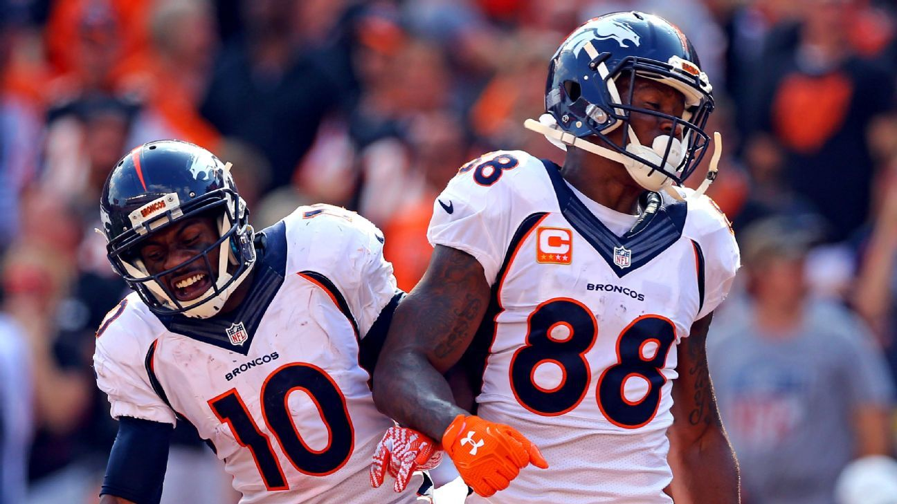 Broncos receivers Emmanuel Sanders, Demaryius Thomas
