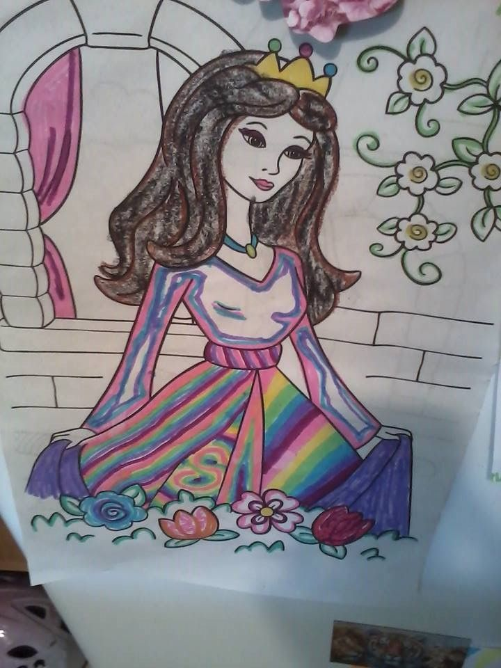 Designed and colored by our most precious and creative little Granddaughter... <3