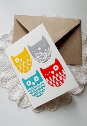 2-osainen kortti, Neljä pöllöä