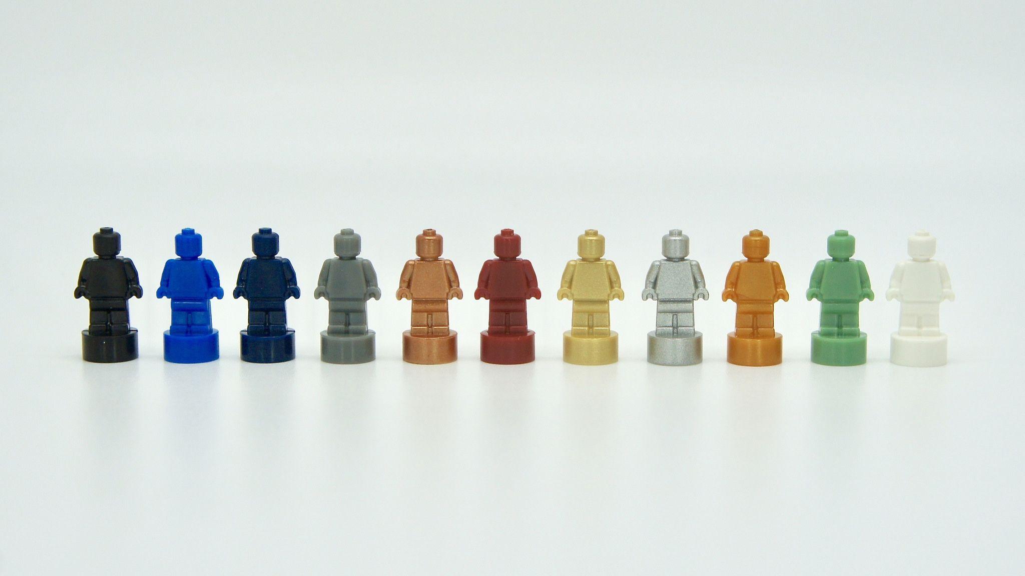 Statue Gray Light Grey GENUINE LEGO Monochrome Figure NEW LEGO