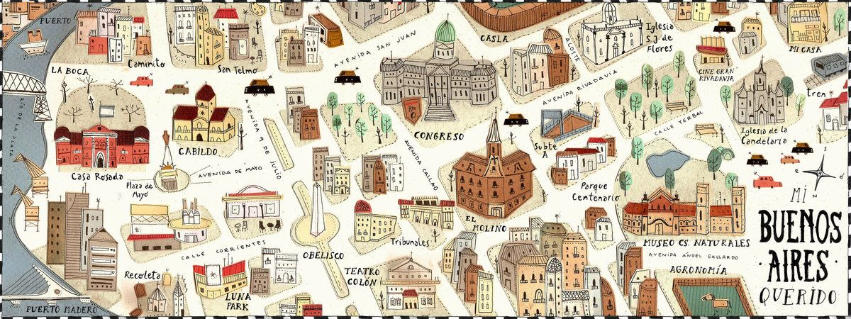 map of Buenos Aires by Camila Tubaro -Mi Buenos Aires ...