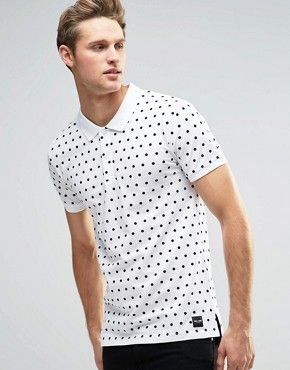 Only & Sons Polka Dot Polo Shirt