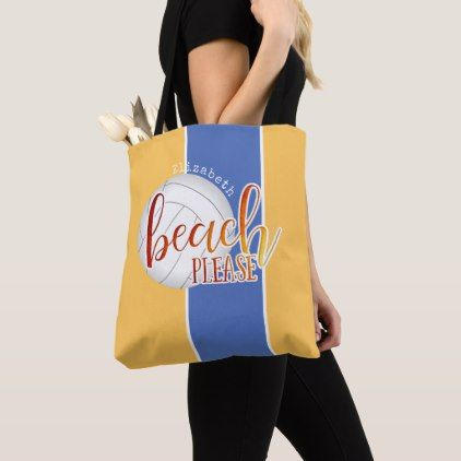 4695d21470 fun beach phrase personalized women s volleyball tote bag - typography  gifts unique custom diy