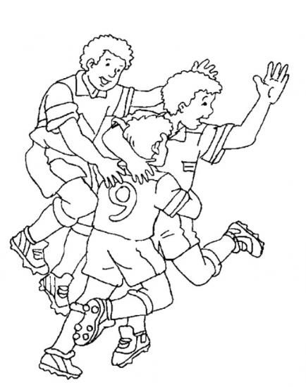 football colouring pages for kids - Football Colouring Sheet