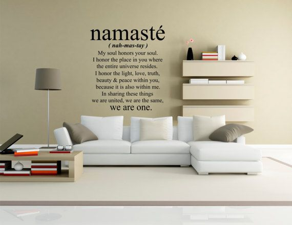 Namaste Wall Decal Art Yoga Vinyl Home Decor Office Nursery
