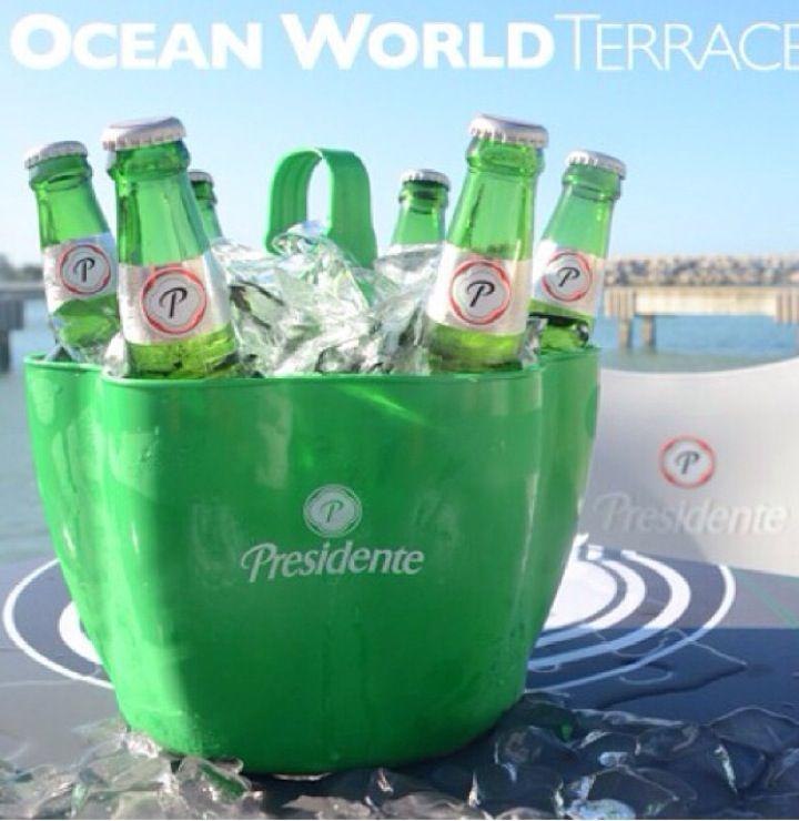 Cubetazo de cerveza Presidente en Puerto Plata | Ocean ...