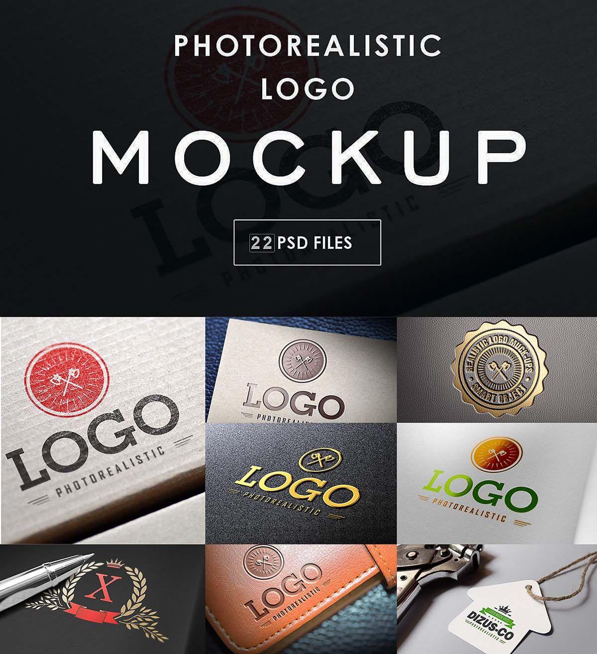Logo mockups bundle Mockup, Logo creation, Photo stock