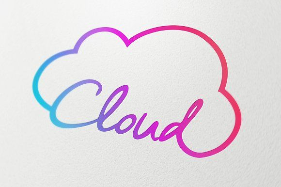 Cloud Technology Symbol Symbols Cloud And Adobe Illustrator