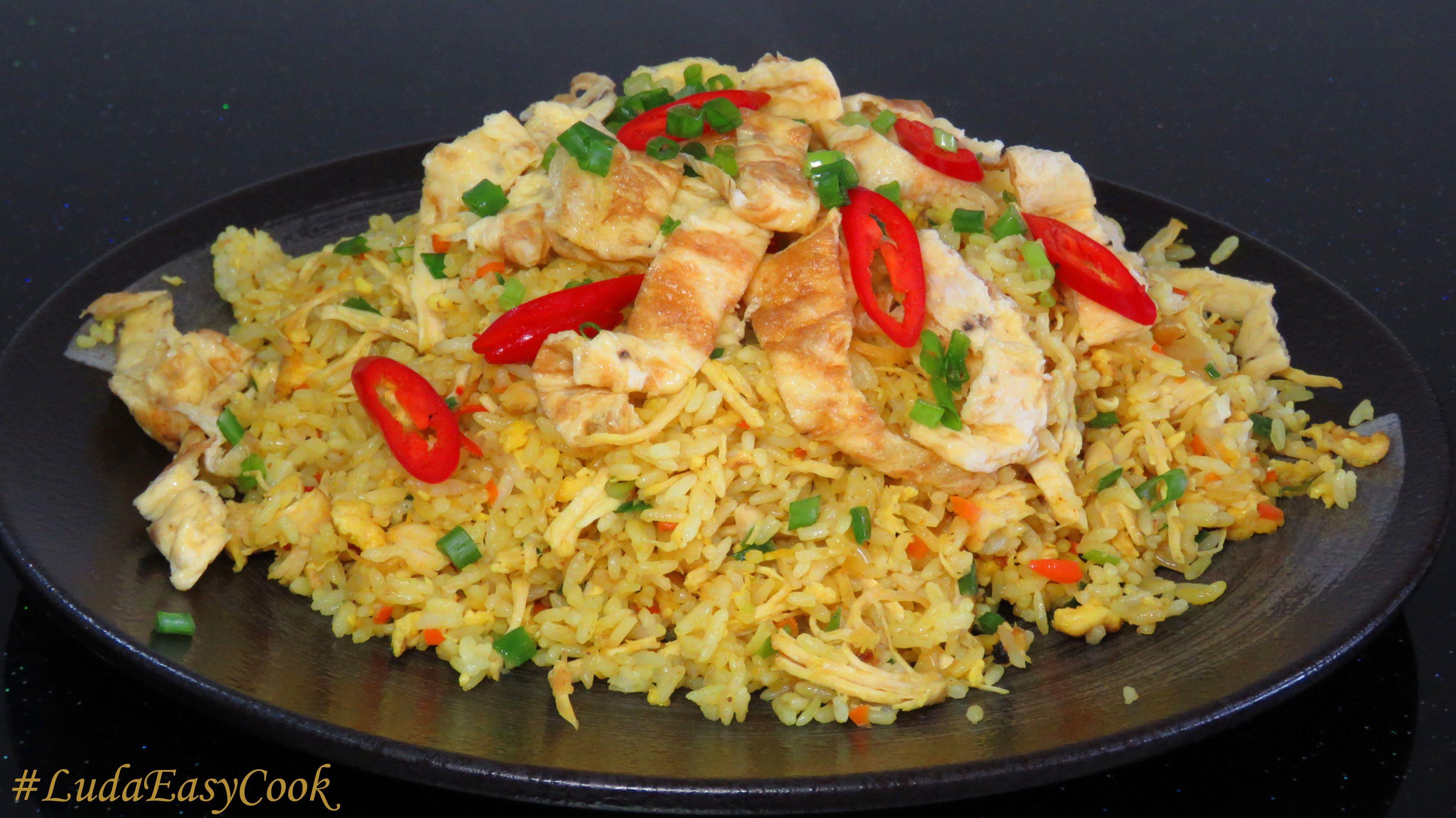 как приготовить жареный рис на гарнир