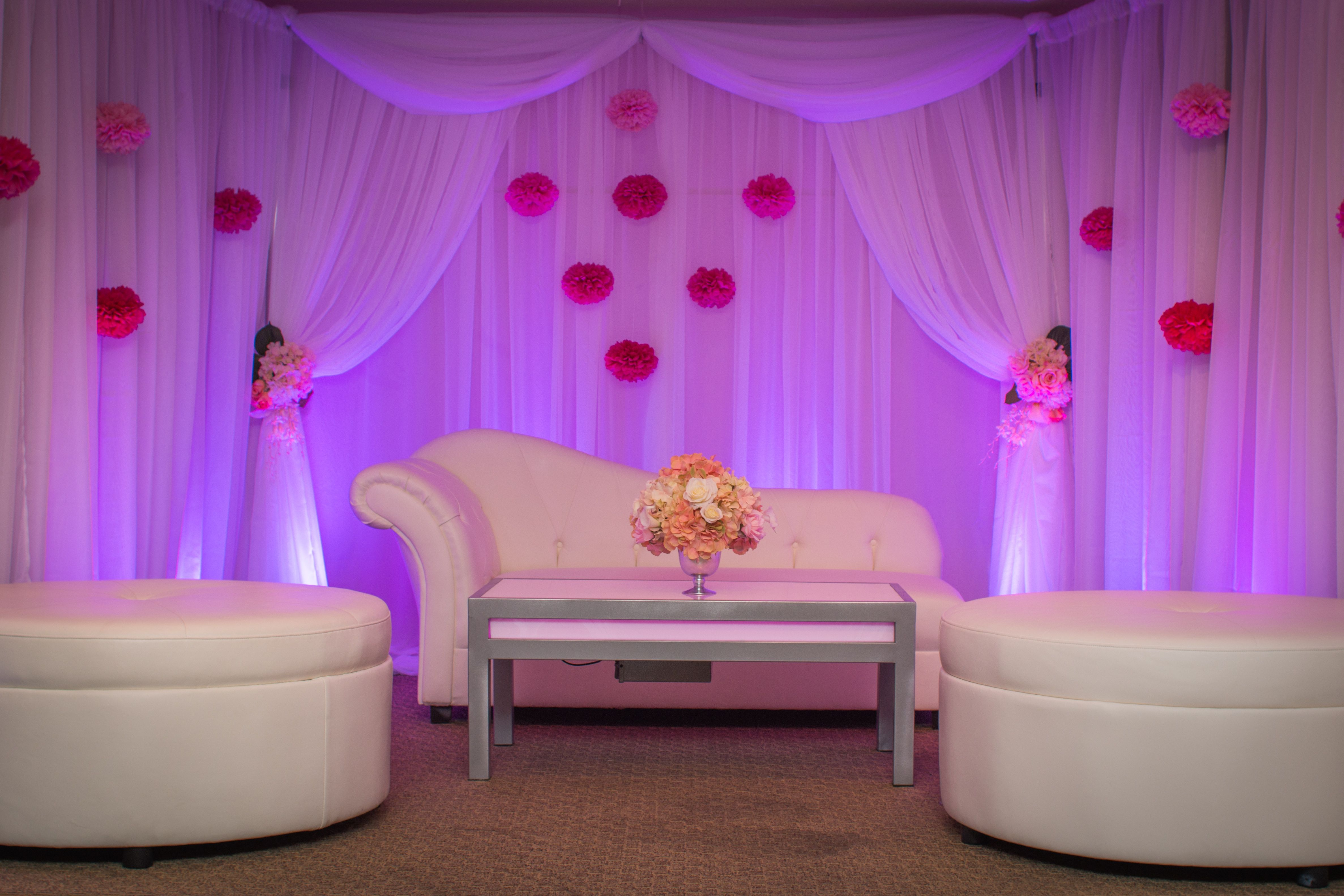 A beautiful and elegant Backdrop for a wedding stage for a ...