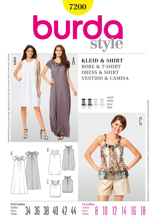 Simplicity Creative Group - Burda Style Dress & T-Shirt I like the ...