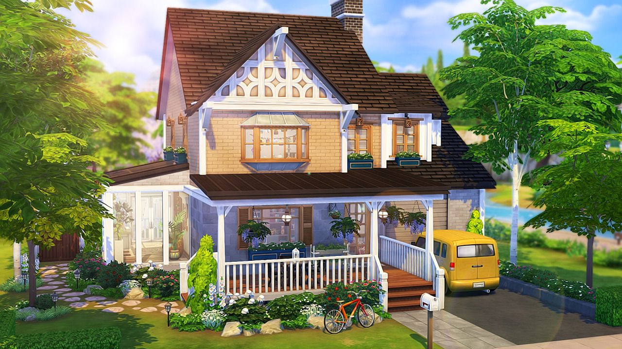Pin By Carpe Sims On Ts4 Builds In 2020 House Big Family Sims House