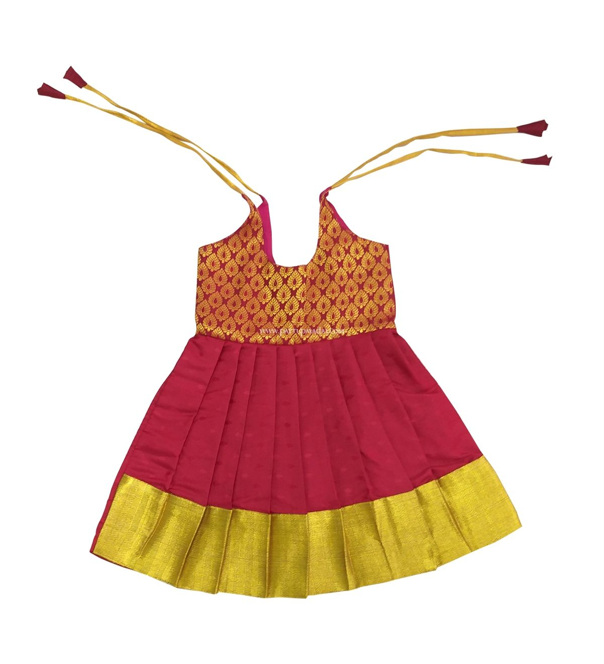 Vibrant Just born 3 months baby silk frock. Buy online at