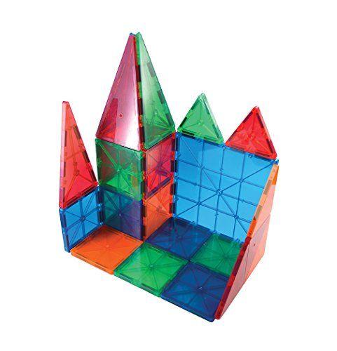 Picassotiles 100 Piece Set Magnet Building Tiles Clear 3d Color Magnetic Building Blocks Cre Magnetic Building Blocks Magnetic Building Tiles Magnetic Tiles