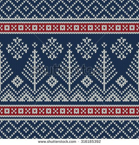366e03fc1 Christmas Sweater Design. Seamless Knitting Pattern - stock vector ...