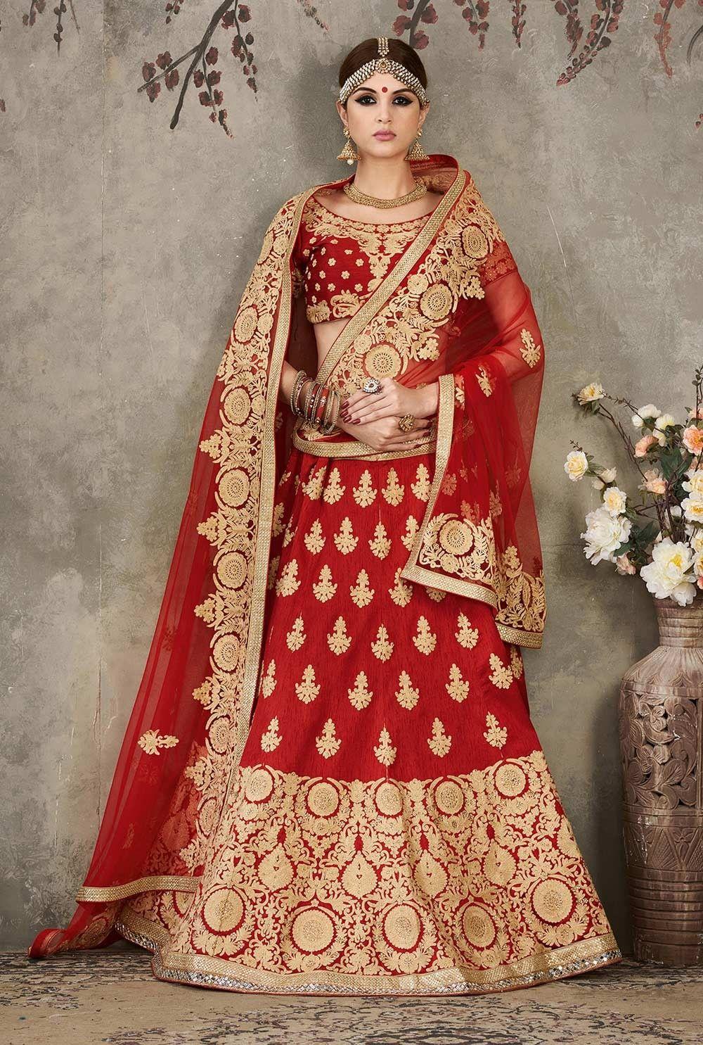 2ee4b01008 Maroon Lehenga Choli, Silk Lehenga Choli, $172.57. Buy latest Lengha choli  with custom stitching and worldwide shipping.