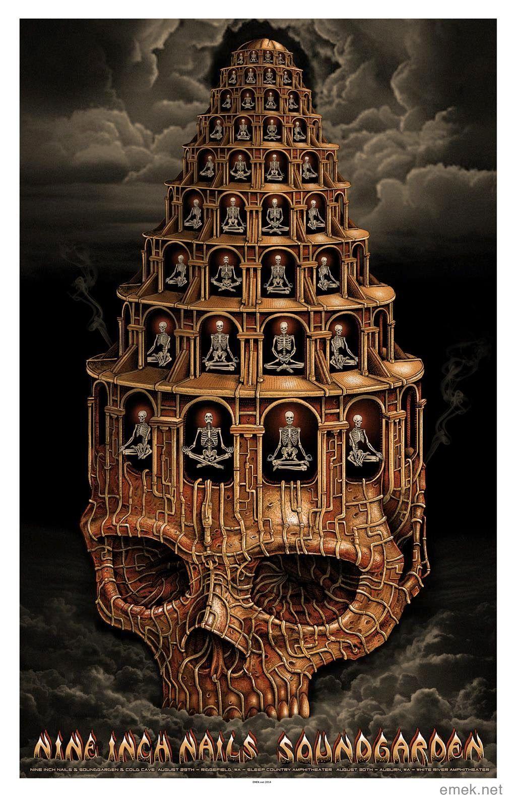 Emek Nine Inch Nails Soundgarden Portland Seattle Poster   Pinterest ...